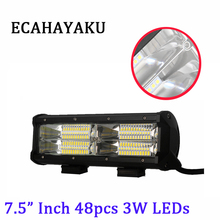 ECAHAYAKU 9 144W IP67 waterproof 6000K 10-30V DC offroad car led work light bar for Jeep 4x4 4WD AWD SUV ATV Driving