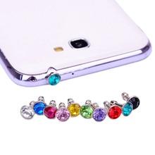JINHF 10 шт Bling универсальная 3,5 мм заглушка для входа наушников мобильного телефона для iPhone 6 5S/samsung/htc sony Пылезащитная заглушка для наушников