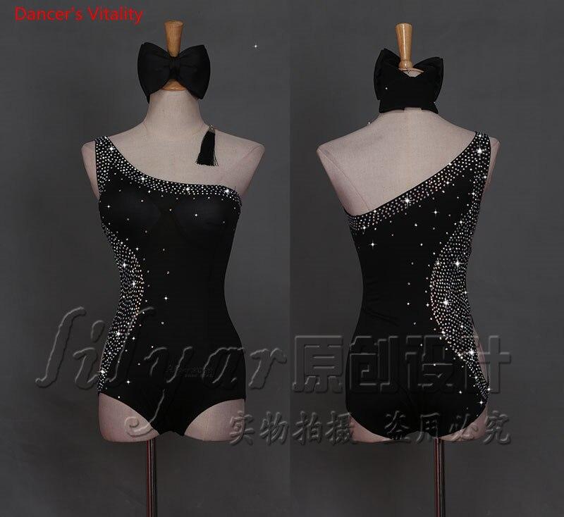 2018 custom made Diamonds Latin Dance Dress Women's ...