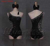 2018 custom made Diamonds Latin Dance Dress Women's Professional Dance Women's Dress Latin Skirt Samba Latin Dance Salsa Dresses