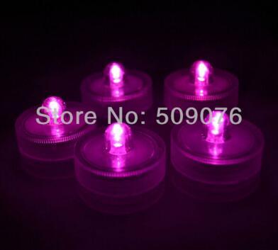 24 шт./лот 8 видов цветов беспламенный свечах привело свечи водонепроницаемый светодиодные свечи для свадьбы - Цвет: pink