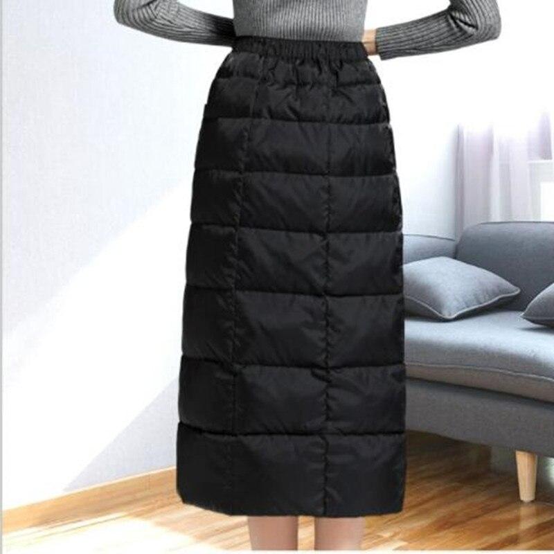Giù Il In Di Caldo Del Delle Gonna Inverno G795 Modo Donne Nero Vita Pannello Cotone 2018 Esterno Elastico Alta Black Allentato Casuale Qualità FEtqn00