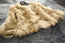 Free shipping New genuine Natural fox fur coat women s short design Luxury real fur jacket
