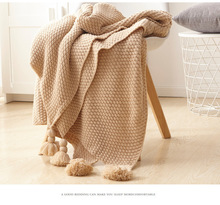 Cozy Chunky Knit Decorative Throw Blanket with Braided Fringe All-season for Sofa 51