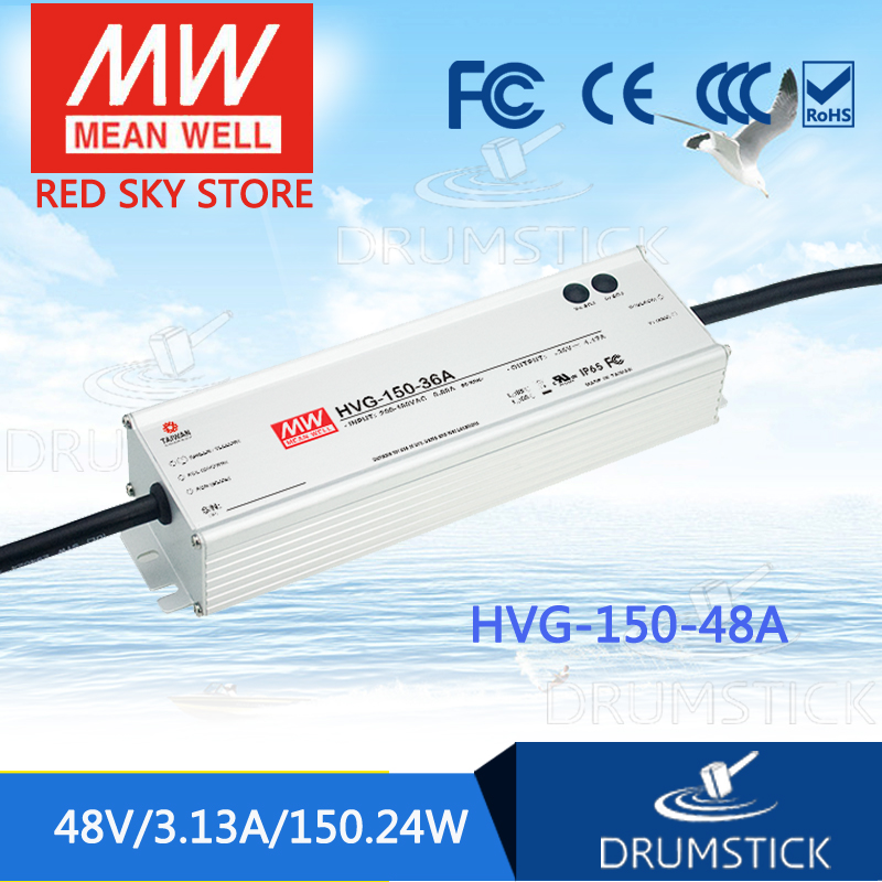 100% Original MEAN WELL HVG-150-48A 48V 3.13A meanwell HVG-150 48V 150.24W Single Output LED Driver Power Supply A type цены онлайн