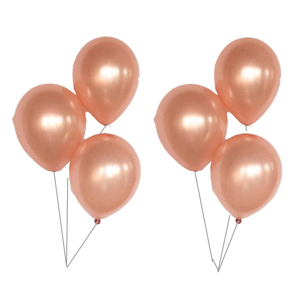 12pcs/lot 12 inch 3.2G Rose Gold Champagne gold Latex Balloon Magic Props Ball Romantic Wedding Anniversar Helium Party Supplies