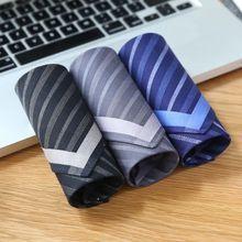 Pocket Handkerchief Cotton Plaid Men Fashion 43cmx43cm Classic-Pattern Stripe