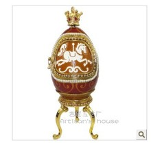 Special offer rotary recreation horse egg music box for Christmas decoration is preferred