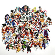 100pcs DRAGON BALL carton portrait anime fans decals scrapbooking diy stickers decoration phone waterproof cartoon accessories