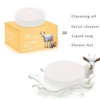Handmade Goat Milk Soap Face Anti Wrinkle Anti Aging Body Whitening Remove Blackheads Cleanser Skin Care
