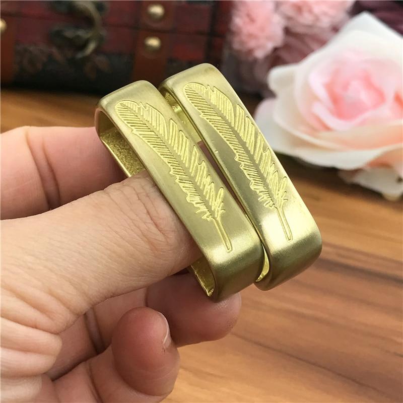 Solid Brass Belt Buckle Loop For Men Belt Luxury DIY Leather Craft Hardware Metal Accessories For Leather Belt Men BL0003