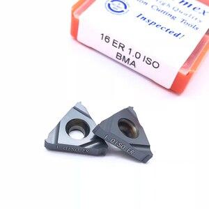 Image 4 - 10 adet 16ER 1.5 ISO BMA 0.75 1.25 2.0 3.0ISO Karbür Uçlar Diş Kesme Dış Torna Aracı CNC Kesici Bıçak SER Taret
