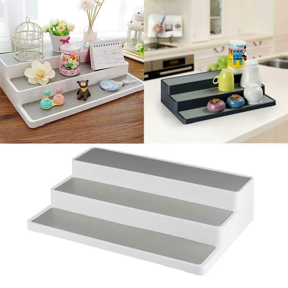 US $3.28 20% OFF|3 Tier Stair Step Design Cabinet Kitchen Spice Rack Jar  Storage Organizer Shelf-in Storage Holders & Racks from Home & Garden on ...