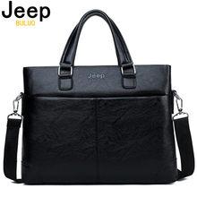 c1b8b1c7fb77 Джип марки Для мужчин Портфели сумка Бизнес кожаная сумка для 13 дюймов  сумки для ноутбуков человек