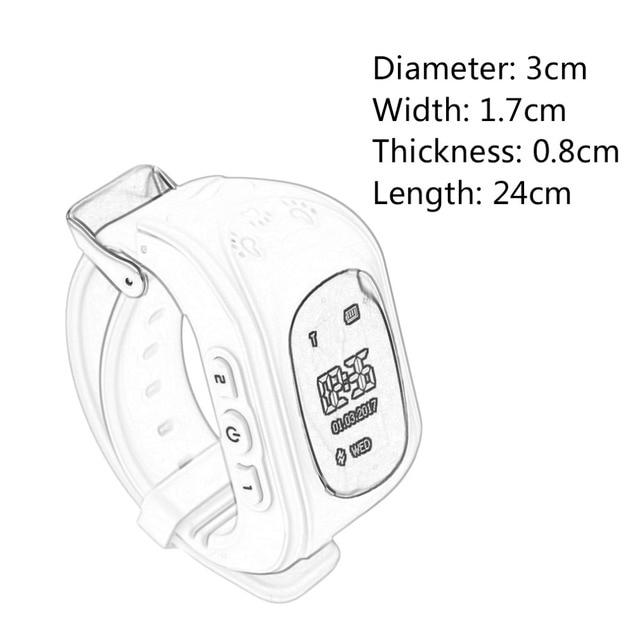Professional Q50 OLED Display Children Kids Smart Wrist Watch GPS Tracker Locator Anti-Lost Waterproof Smart Watch