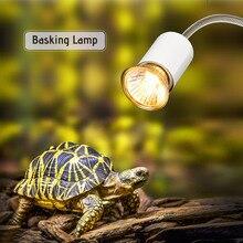 25W UVA UVB Turtle Basking Lamp Halogen Heat Lamp Rotatable Clip Light Aquarium Reptiles Lizard Turtle Baking Heater Light Bulb