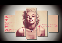 Unframed Printed Marilyn Monroe 5 Piece Painting Wall Art Children S Room Decor Poster Canvas Free