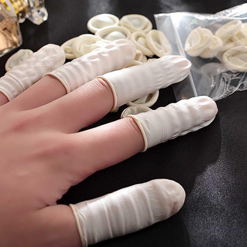 6 шт./пакет практичные латексные напальчники одноразовые напалечники перчатки DIY для окрашивания кожи смазанные анти-грязные напальчники