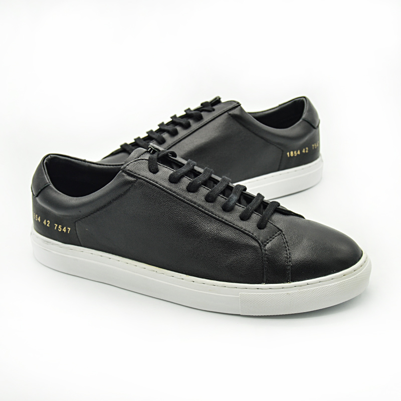 Italy Common Projects Brand Women Men Shoes Spring Black Genuine Leather Basse Sheepskin Casual Shoes Scarpe Uomo Superestrella hogan scarpe uomo