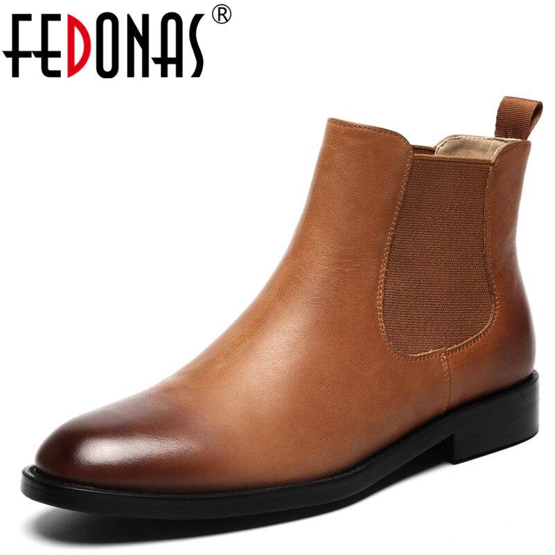 Caliente Señora Martin Botas Retro Mujer Zapatos Cuero Invierno Otoño  Cuadrados Oficina Tacones Negro Moda Fedonas marrón Mujeres Genuino 1  Tobillo Swn0xp4q 7f4daa0f01f41