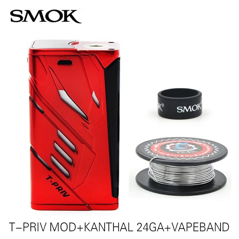 100% Original  Smok T-Priv mod  220w electronic cigarette Vape Box  Mech Mod VS Smok G-priv/Smok Alien original sigelei 100w plus box mod huge vape 510 thread sigelei 100w electronic cigarette mod fit for 18650 battery