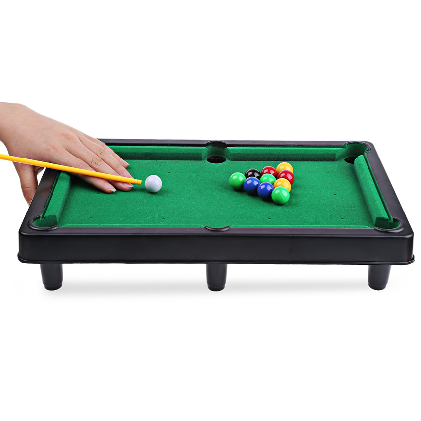 Mini Billiard Ball Snooker Pool Table Flocking Desktop Simulation Billiards Family Game Childrens Play Sports Balls Sports Toys