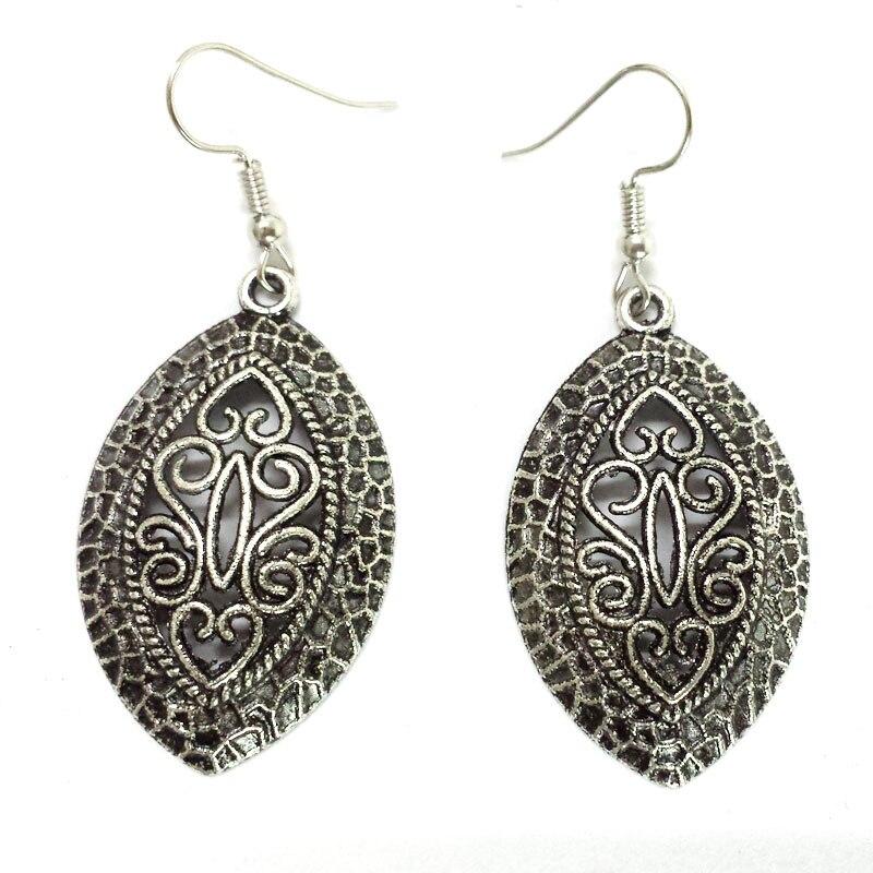 Er208 Tibetan Gypsy French Royal Style Silver Plated Fashion Vintage Drop Dangle Wholesale