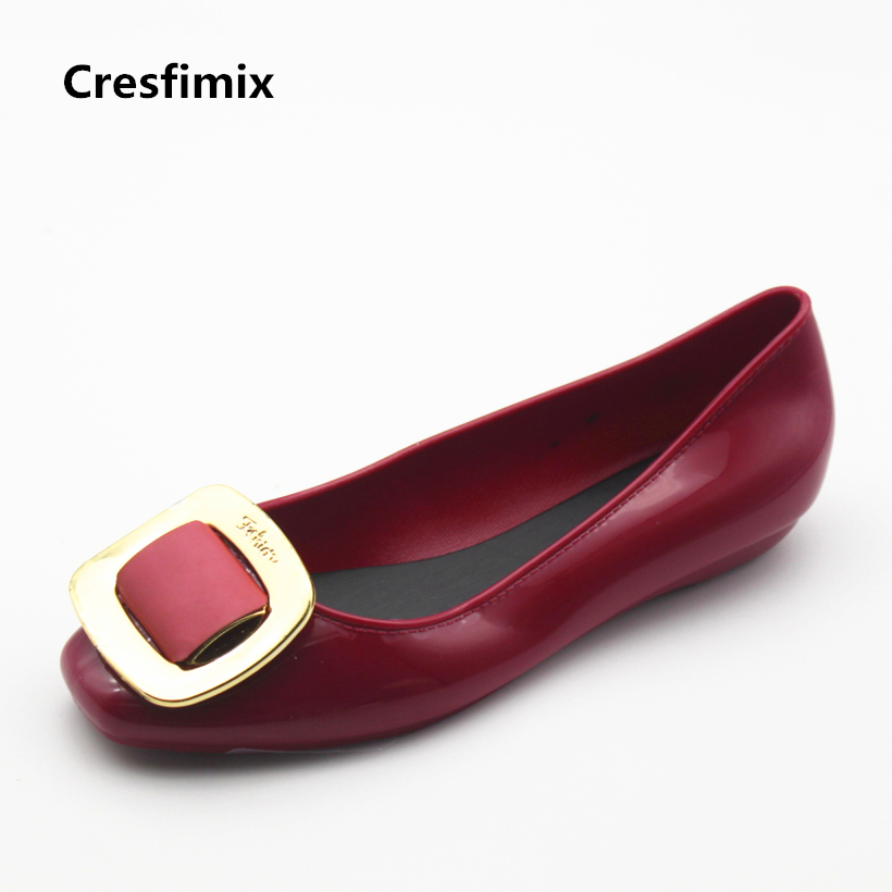 Cresfimix zapatos de mujer women cute round toe slip on flat shoes lady leisure soft red flats female casual summer shoes new shallow slip on women loafers flats round toe fishermen shoes female good leather lazy flat women casual shoes zapatos mujer