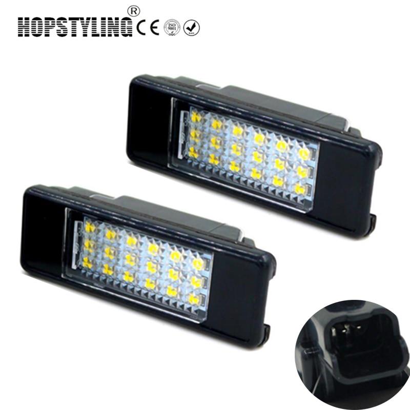 auto náhradní světlo zadní poznávací značky Pro Citroen C2 3D / C3 5D / C4 3D / C4 5D / C5 4D / C5 5D / C6 4D / C8 4D Žádná chyba