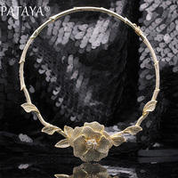 PATAYA New 585 Rose Gold Extreme Luxury Micro Wax Inlay Natural Zircon Flowers Chokers Necklace Women
