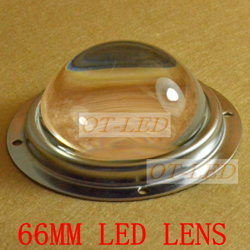 66mm Optical Glass Led Lens 60-90degree Lighting Angle For 20W 30W 50W 60W 100W 120W High Power Leds