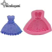 1pcs  UV Resin Jewelry Liquid Silicone Molds Princess 3D Dress Mold Resin Charms Mold For DIY Decorate Making Jewelry