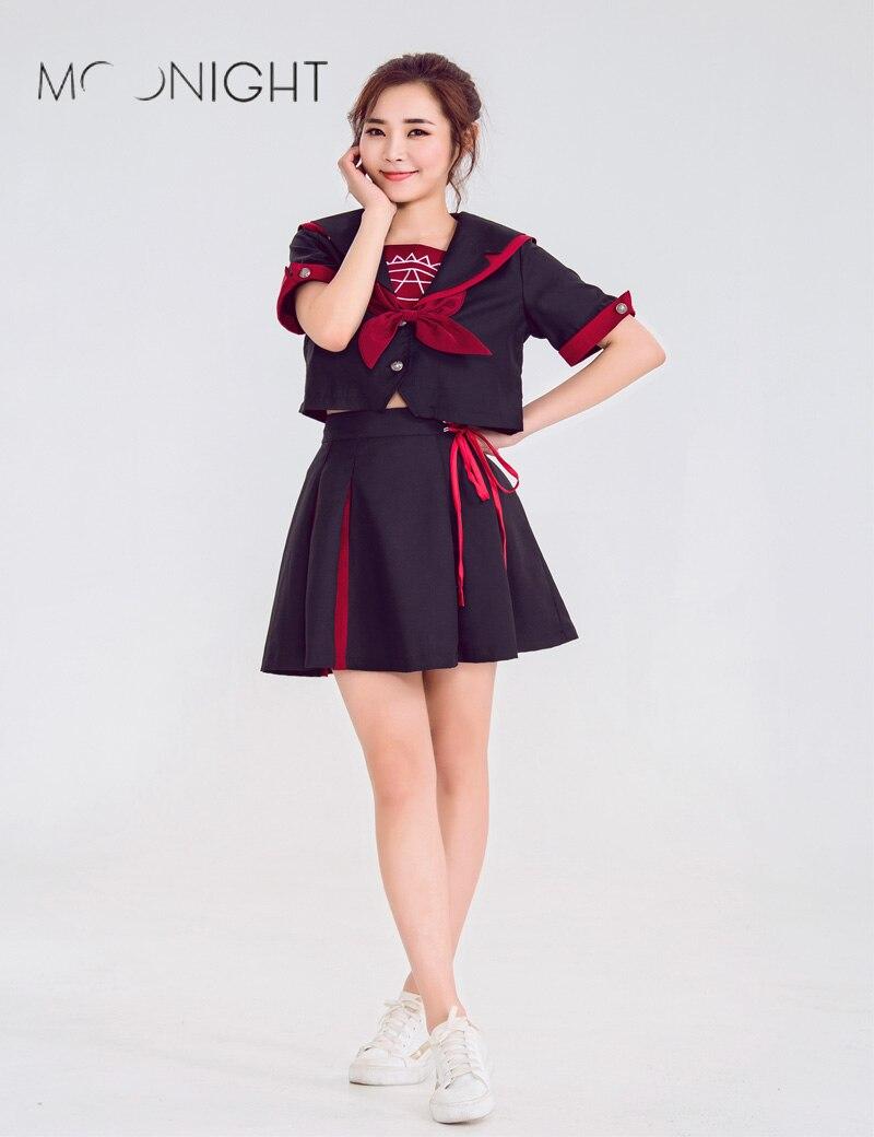 MOONIGHT New Sexy High School Cheer Musical Glee Baseball Cheerleader Costumes Lady Cosplay Halloween