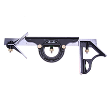 On sale 3pcs 300mm Ruler Multi Combination Square Angle Finder Protractor Spirit Level Measure Measuring Set Tools