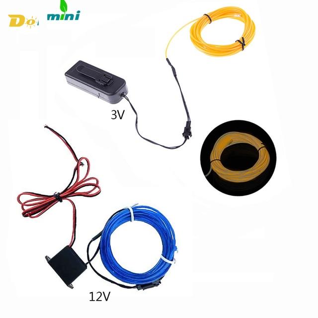 LED Strip 3V12V EL Wire Neon Ribbon Glow Led Light Flexible Neon EL ...