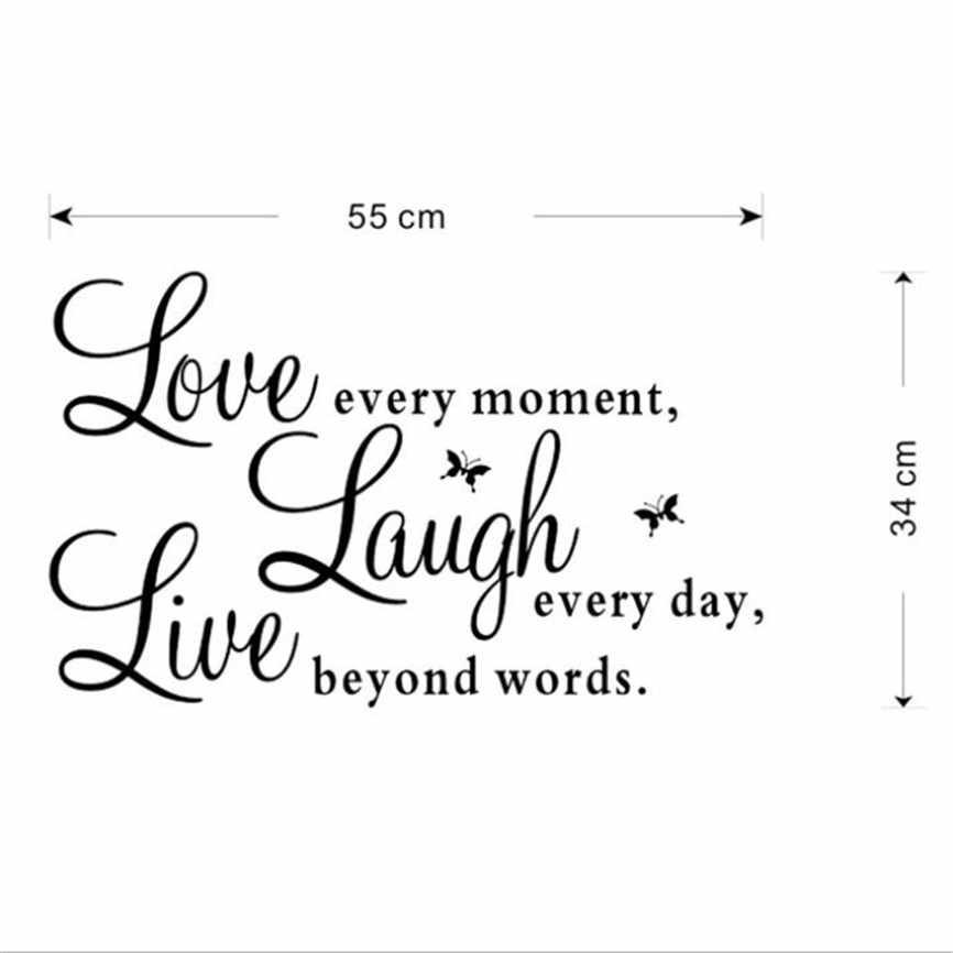 """ヴィンテージ家の装飾のビニールデカール """"すべての瞬間、笑い毎日、ビヨンド愛言葉 """"CA アクセサリードロップシッピング 05"""