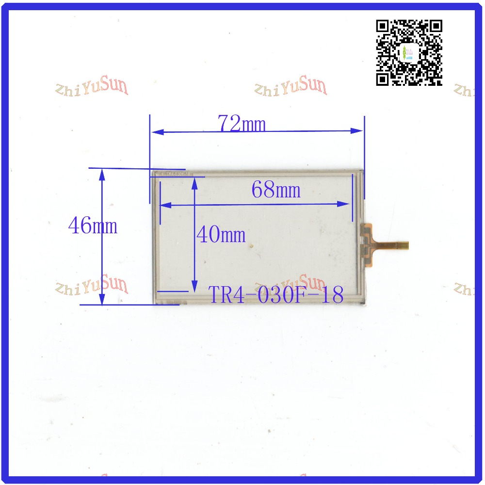 ZhiYuSun NEW TR4-030F-18 for 3.0GPS GLASS 72*46  This is compatible  New 3 Inch Touch Screen 72mm*46mm zhiyusun for iq701 new 8 inch touch screen panel touch glass this is compatible touchsensor 124 5 173