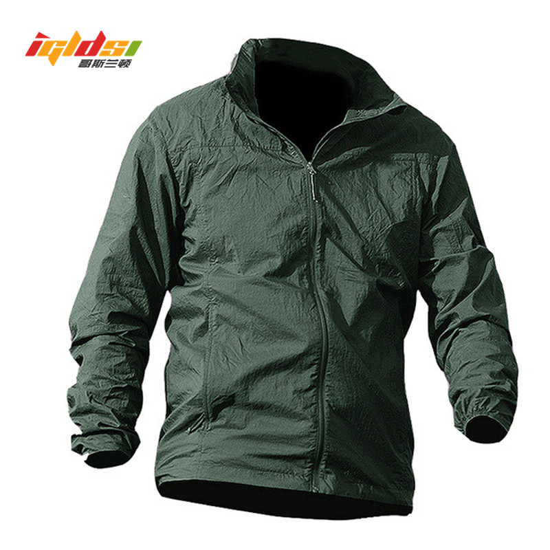 Summer Waterproof Quick Dry Tactical Skin Jacket Men Sunscreen Breathable Hooded Raincoat Windbreaker Thin Army Military Jackets