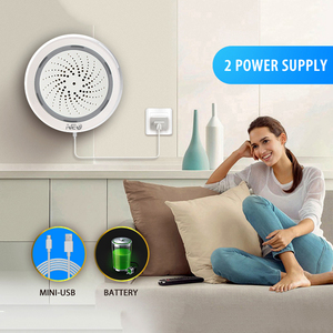 Image 5 - NAS AB02WT Smart WiFi Siren Alarm Sensor USB Power  Temperature and Humidity Sensor Workes with Alexa Echo and Google Home,IFTTT
