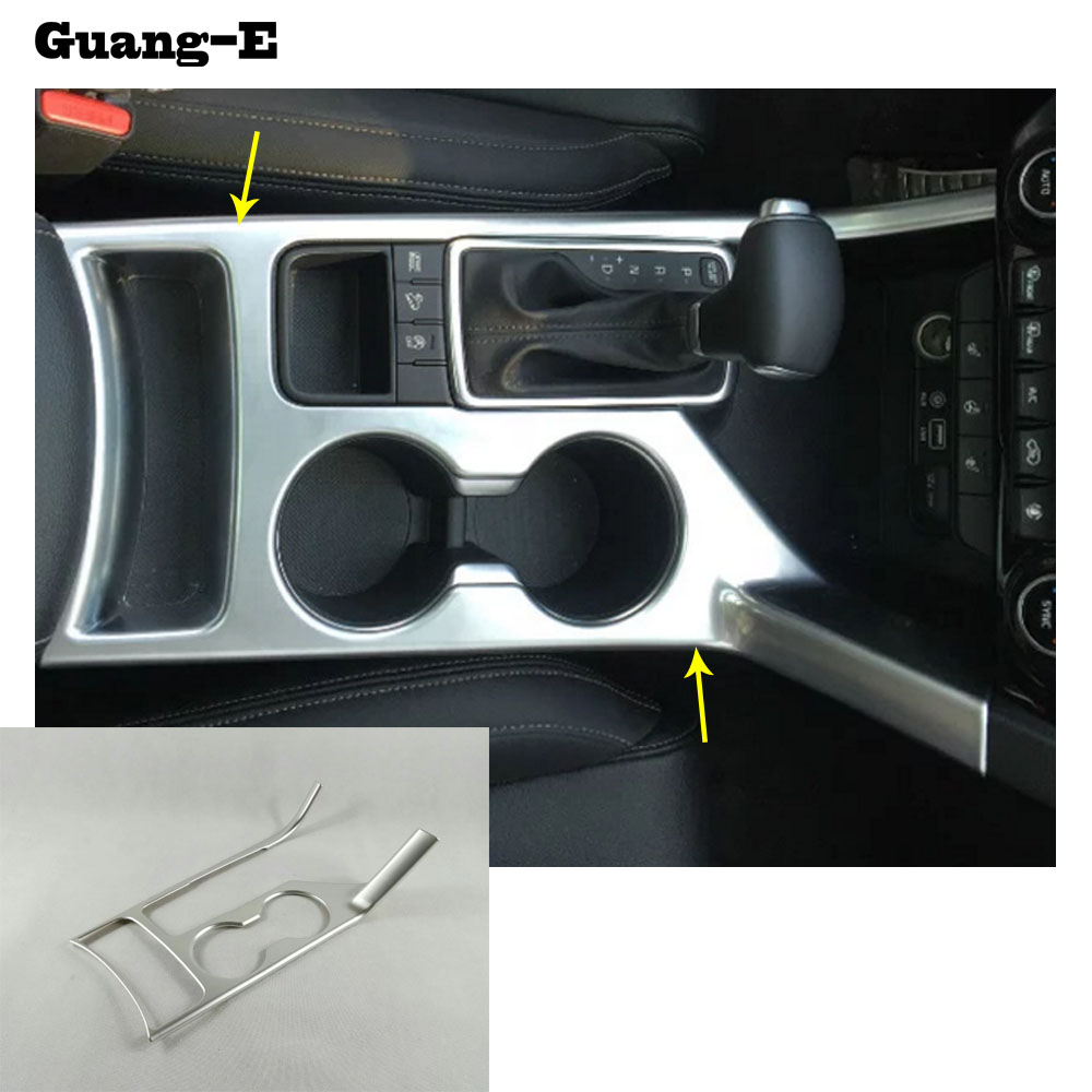 Car stylingdetector trims ABS chrome Center Console Cup Holder gear armrest box panel 1pcs For Kia Sportage KX5 2016 2017 2018