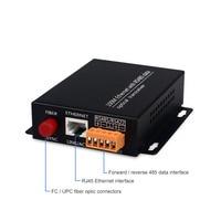 RS485 data Ethernet fiber converter 1 channel forward + reverse 485 data and 100Mbps Ethernet communication