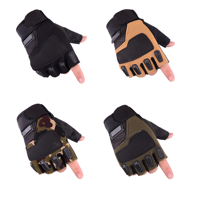 NEW Men's Tactical Gloves Military Army Shooting Half Fingerless Gloves Outdoor Sports Anti-Slip Gloves Airsoft Bicycle