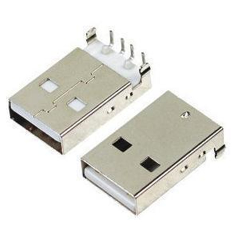10pcs USB 2.0 Male A Type USB PCB Connector Plug Right Angle 90 Degree DIP Male USB Connectors