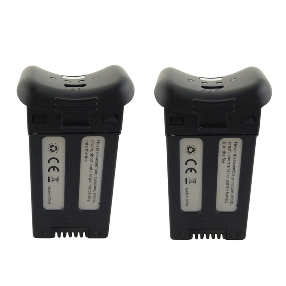2PCS SJRC S20W T25 3.7V 1000mAh black lithium battery for drone accessories 3 7v 1000mah battery for sjr c sjrc s20 s20w rc quadcopter spare parts accessories