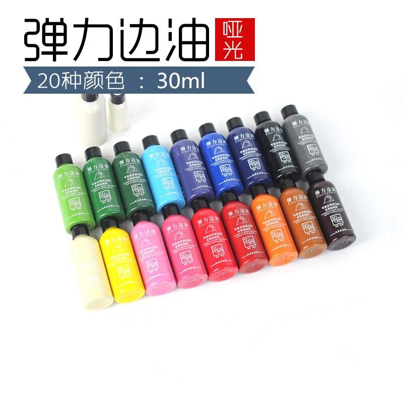 20 colores para elegir 30 ml pintura colorida Borde de cuero aceite borde tinte destacados borde aceite envío gratis