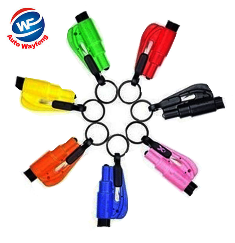 2016 Car Styling Emergency Hammer Key Chain Seat Belt Cutter Window Breaking Automotive Car Styling Escape Tool Safety Tools