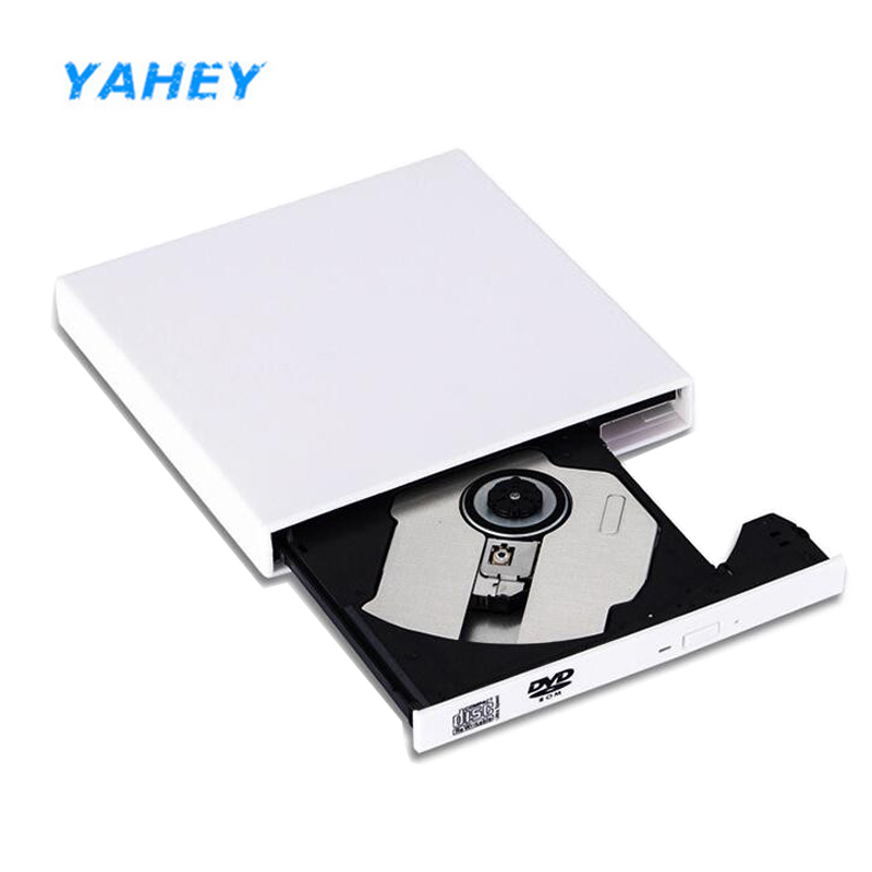 DVD ROM Optical Drive USB 2.0 External CD/DVD-ROM Player CD RW Burner Recorder Portatil for Laptop Computer pc Windows 7/8