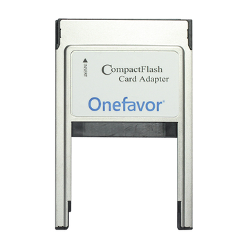 onefavor CompactFlash Card Adapter type I II CF Card into PCMCIA PC card reader