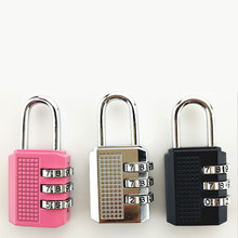 Password lock padlock Mini cabinet door lock household backpack suitcase student dormitory small lock head small mini lock solid plastic case copper padlock travel tiny suitcase and lock with 2 keys have 8 colors home accessories