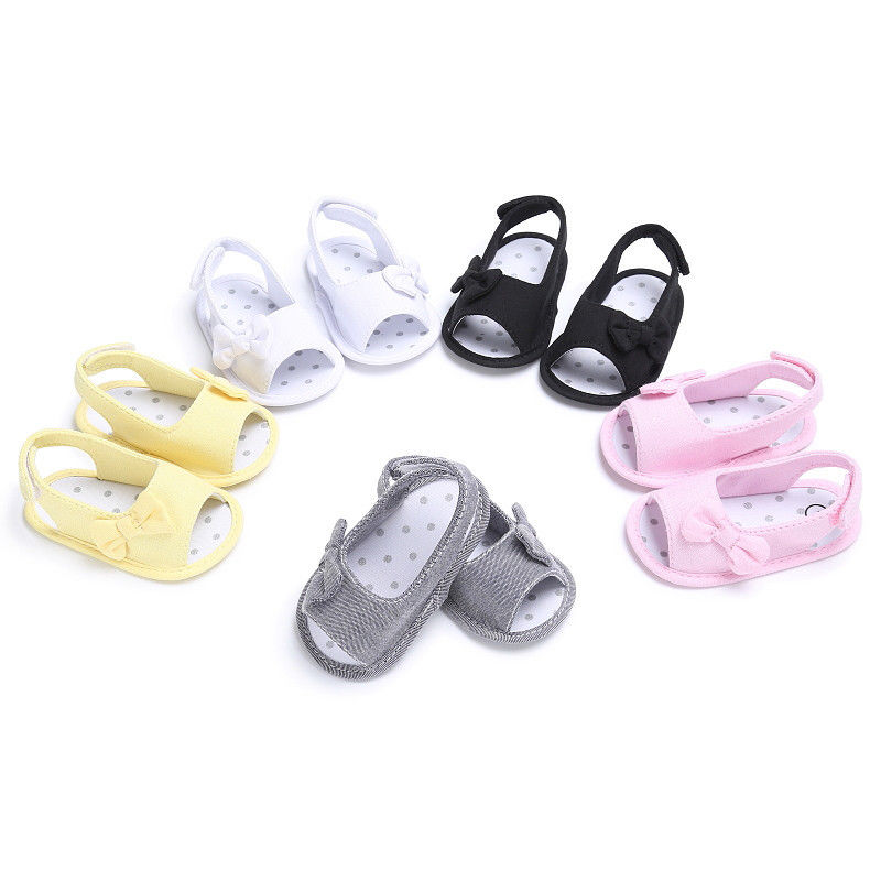 Newborn Baby Girl Shoes Bow Sandal Toddler Infant Sandles Soft Crib Shoes Infant Toddle Baby Girls Shoes Summer
